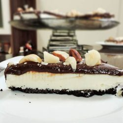 Cheesecake de Oreo com Nutella